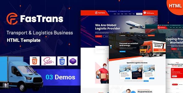 Fastrans - Transportation & Logistics Template
