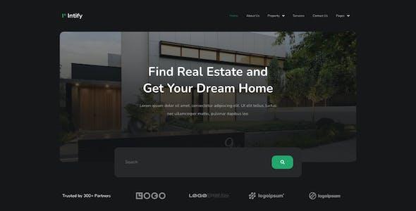 Intify - Real Estate Elementor Template Kit