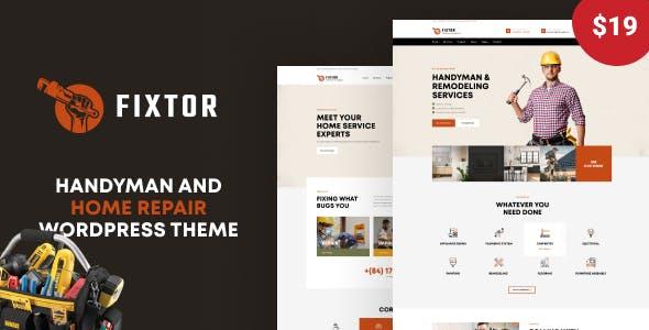 Fixtor - Handyman & Home Repair WordPress Theme
