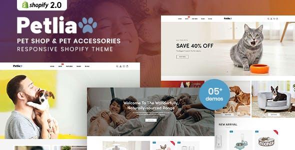Petlia - Pet Shop & Pet Accessories Responsive Shopify Theme