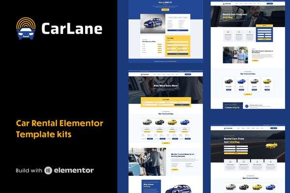 CarLane - Car Rental Elementor Template Kit - Automotive & Transportation Elementor