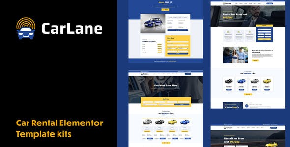 CarLane - Car Rental Elementor Template Kit