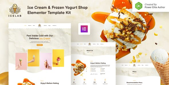 Icelab – Ice Cream & Frozen Yogurt Shop Elementor Template Kit