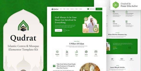 Qudrat – Islamic Center & Mosque Elementor Template Kit
