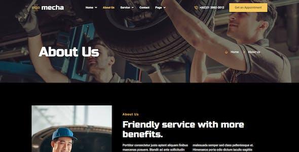 Mecha - Car Repair & Auto Service Elementor Template Kit