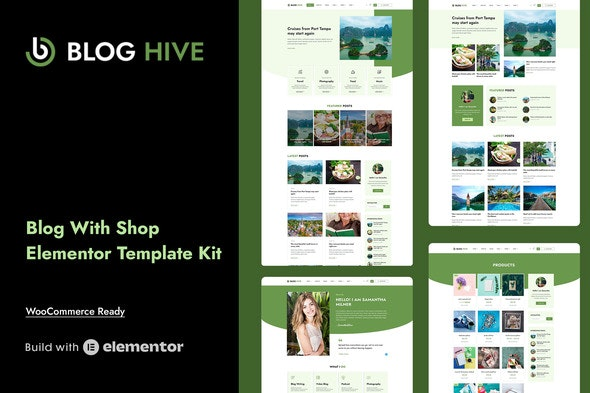Blog Hive - Personal Blog Elementor Template Kit - Blogs & Podcasts Elementor