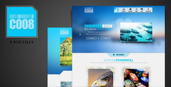 C008 PSD Template - Creative Photoshop