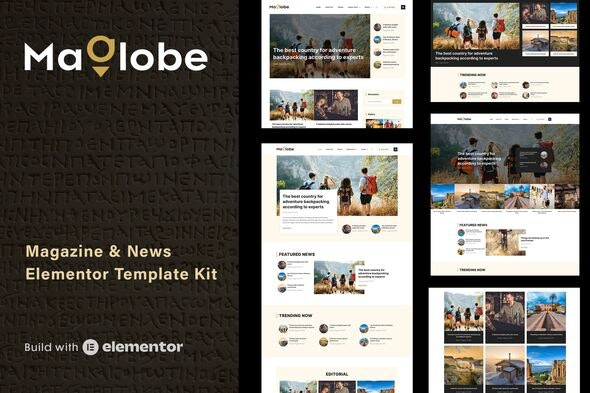 Maglobe - Magazine & News Elementor Template Kit - News & Magazines Elementor