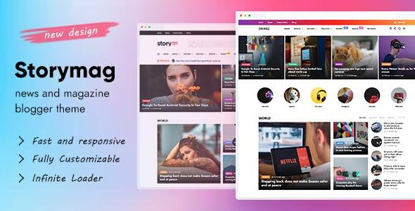 Story Mag - News Magazine Blogger Theme
