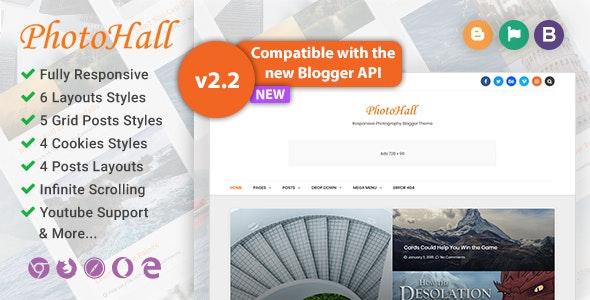 PhotoHall Responsive Photography Blogger Theme - Blogger Blogging