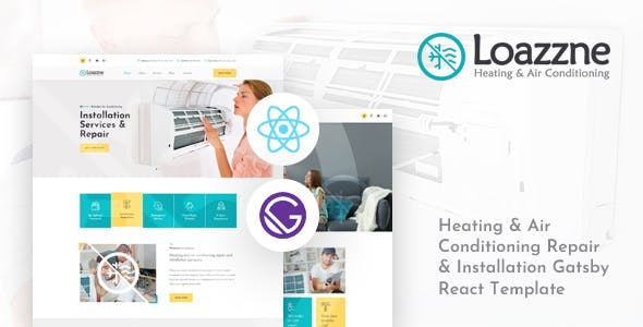 Loazzne - Gatsby React Heating & Air Conditioning Services Template