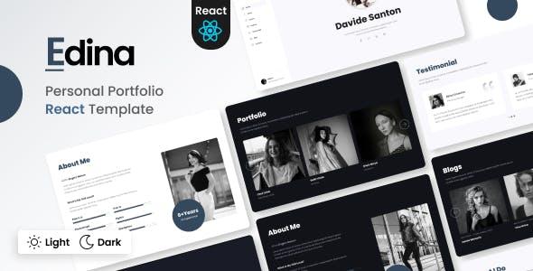 Edina - Personal Portfolio React Template