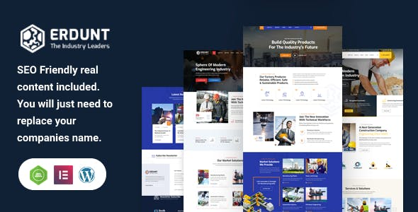 Erdunt - Industrial Business WordPress Theme
