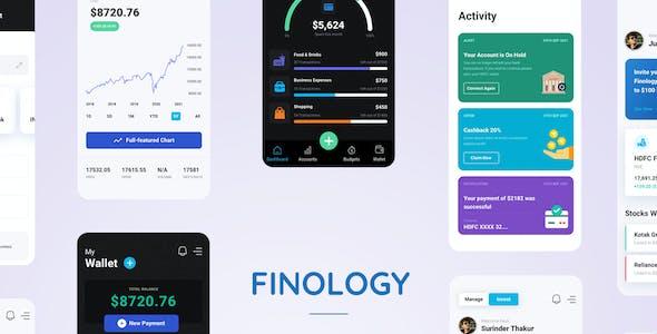 Finology - Money Management App Figma Template