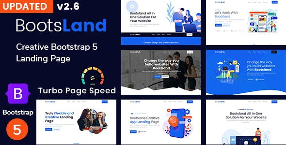 Bootsland - Creative Bootstrap5 Landing Page - Technology Site Templates