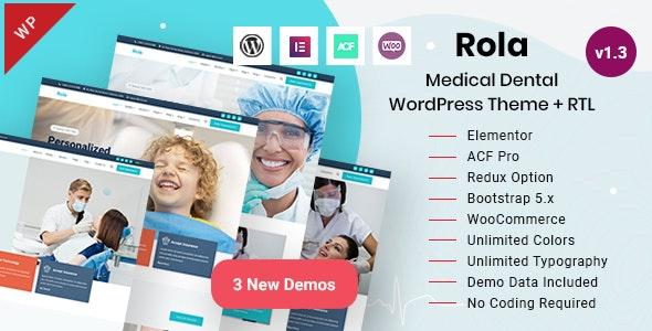 Rola - Medical Dental WordPress Theme - Health & Beauty Retail