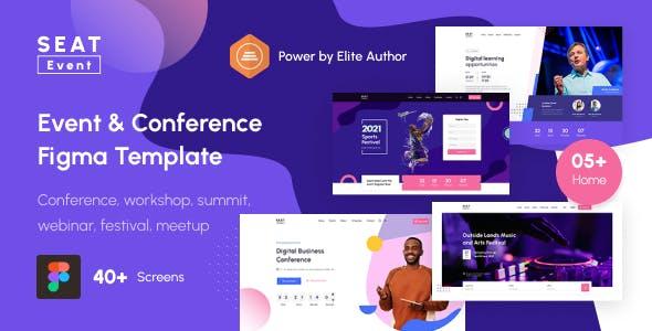 SEATevent - Event & Conference Figma Template