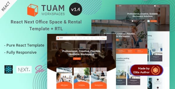 Tuam - Office Space & Property Rental React Template