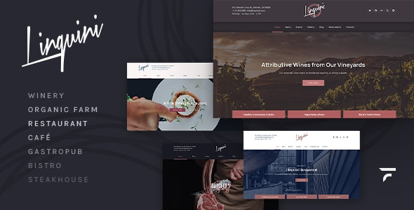 Linguini — Restaurant WordPress Theme - Restaurants & Cafes Entertainment