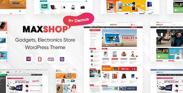 MaxShop - Electronics Store Elementor WooCommerce WordPress Theme (9+ Homepages, 2+ Mobile Layouts)