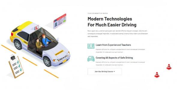 Drivega - Driving School Elementor Template Kit