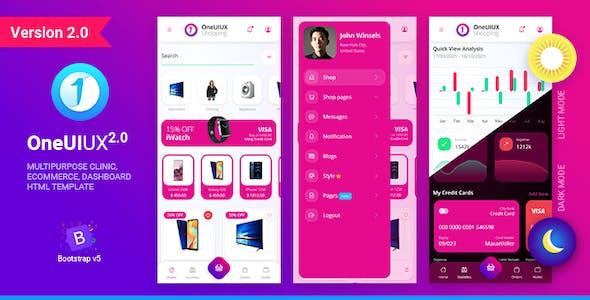 Oneuiux Creative Multipurpose Mobile App UI UX HTML Template