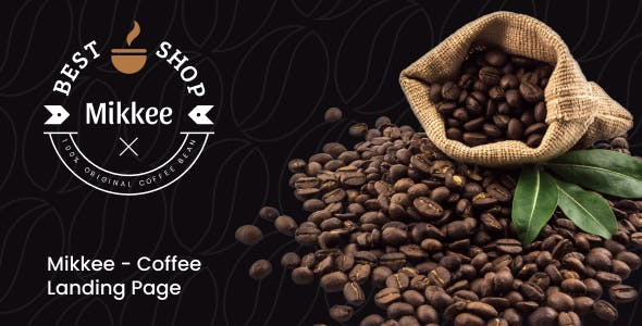 Mikkee - Coffee Landing Page XD Template
