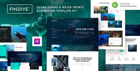 Findive – Scuba Diving & Water Sports Elementor Template Kit