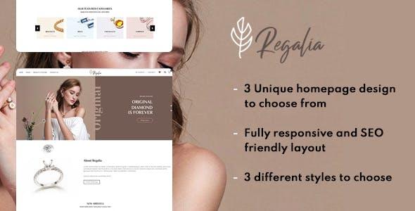 Regalia a complete Jewelry shop HTML template