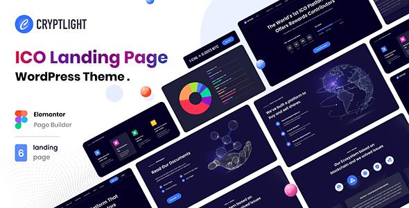 Cryptlight - ICO Landing Page WordPress Theme