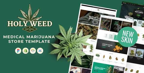Holy Weed - Medical Marijuana Shopify Store Template for Cannabis Oil and Drug Shop - Health & Beauty Shopify