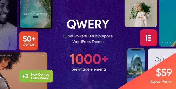 Qwery - Multi-Purpose Business WordPress Theme + RTL - Business Corporate