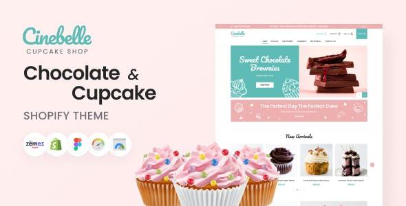 Cinebelle - Chocolate & Cupcake Shopify Theme