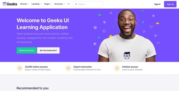 Geeks - Online Learning Marketplace WordPress Theme