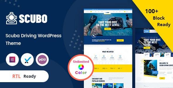 Scubo - Scuba Diving Centre WordPress Theme + RTL