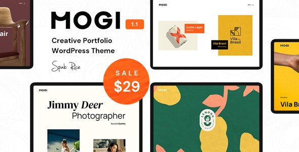 Mogi - A Creative Portfolio / Agency WordPress Theme - Portfolio Creative