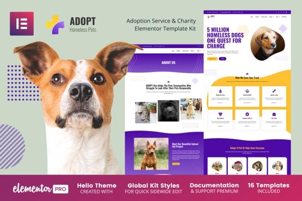 Adopt - Adoption Service & Charity Elementor Template Kit - Non-Profit & Religion Elementor