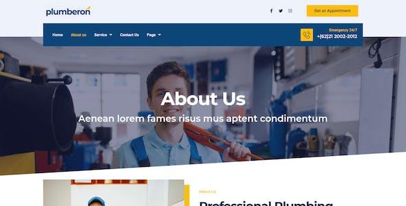 Plumberon - Plumbing Service Elementor Template Kit