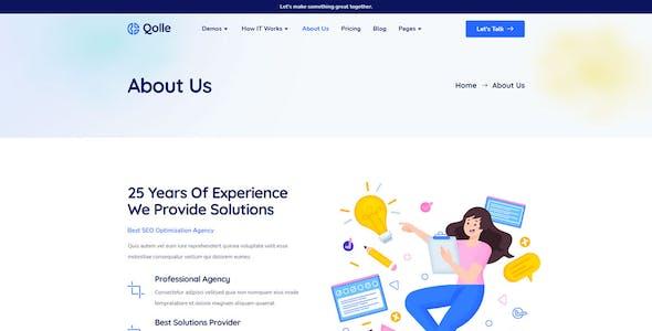 Qolle - Digital Marketing Agency Elementor Template Kit