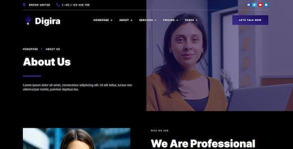 Digira - Digital Agency Services Elementor Template Kit