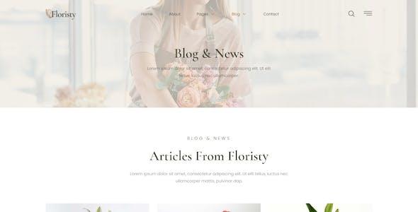 Floristy - Florist & Flower Boutique Elementor Template Kit
