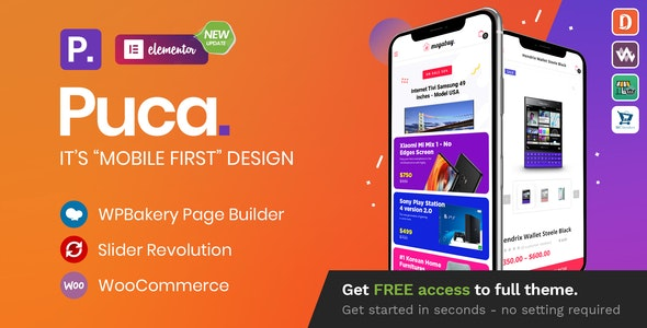 Puca v2.4.7 – Optimized Mobile WooCommerce Theme