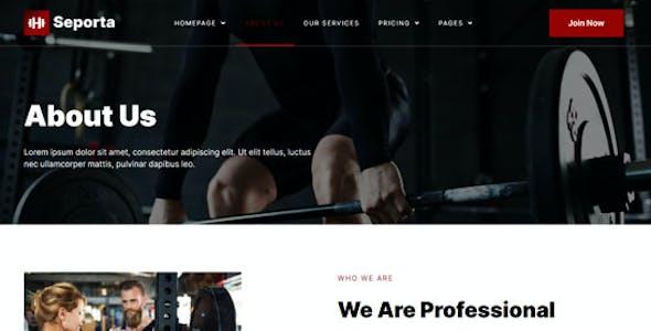Seporta - Gym & Fitness Elementor Template Kit