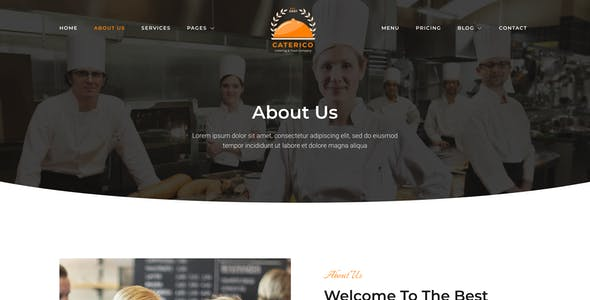 Caterico – Catering Services & Restaurant Elementor Template Kit