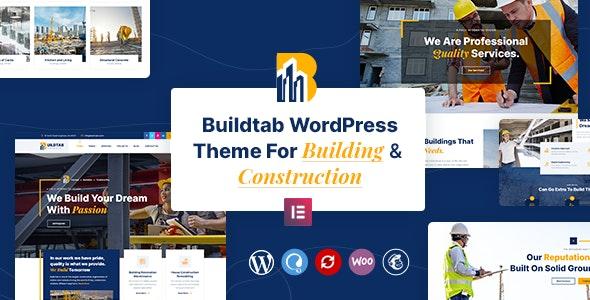 BuildTab - Construction Firm WordPress Theme - Business Corporate