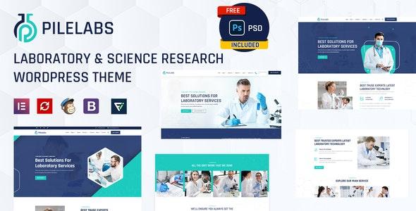 Pilelabs - Laboratory & Science Research WordPress Theme - Business Corporate