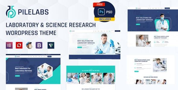 Pilelabs - Laboratory & Science Research WordPress Theme