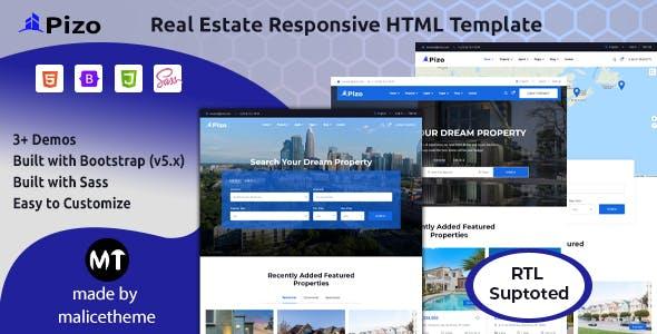 Pizo - Real Estate Responsive HTML Template