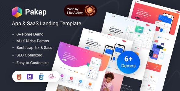 Pakap - App & SaaS Software Landing Page HTML Template