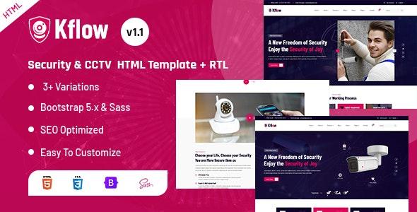 Kflow - Security & CCTV HTML Template - Business Corporate